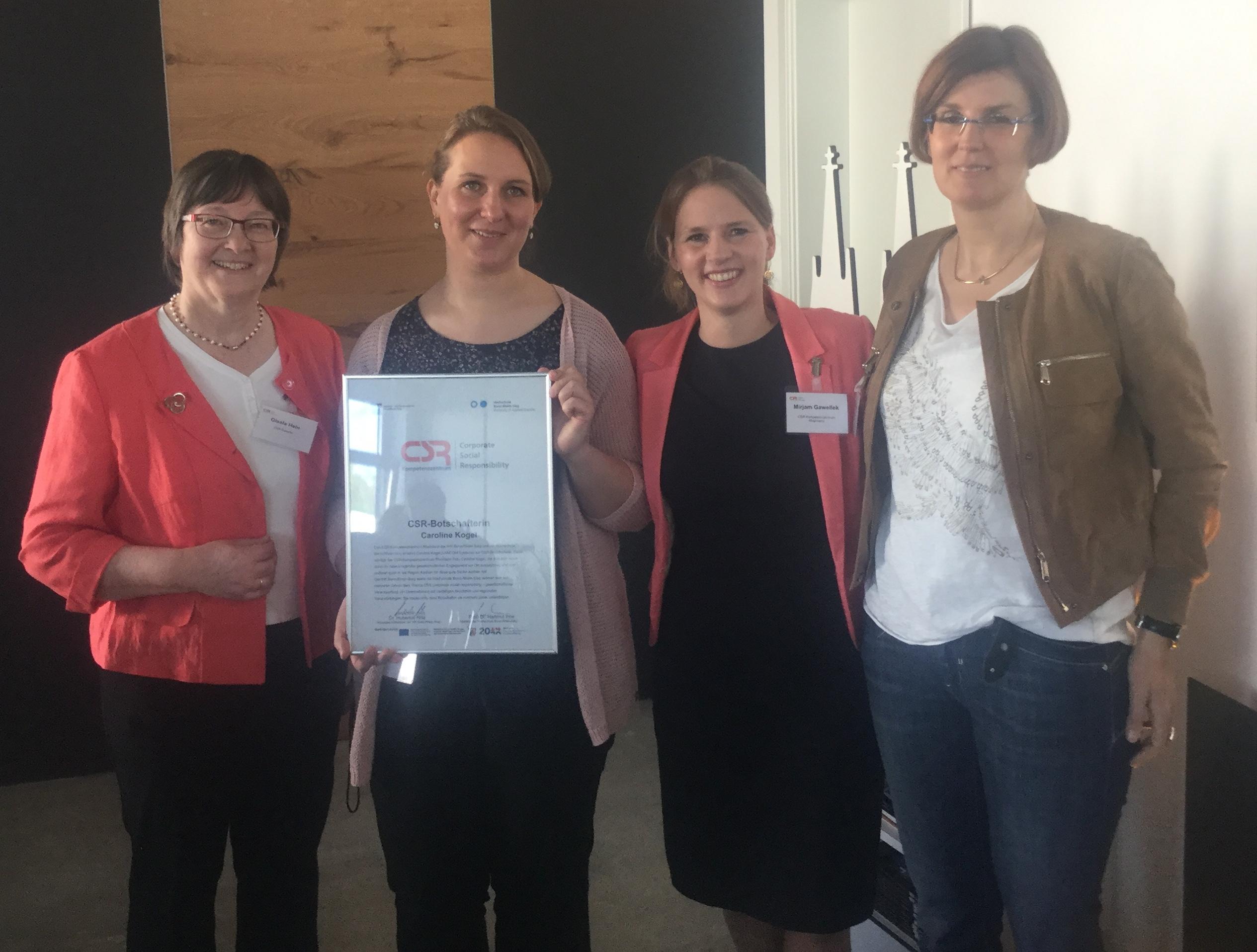Caroline Kogel ist die erste CSR-Botschafterin aus der Region Aachen ...